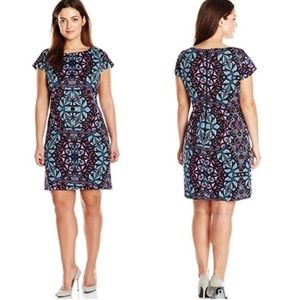 Vince Camuto Sheath Printed Cap Sleeve Dress 2